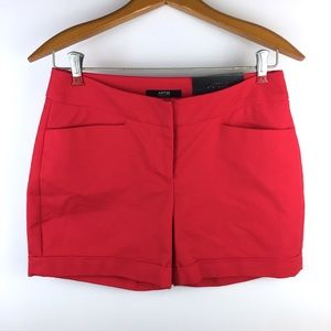APT 9 new Mid Rise Shorts Cuffed Red